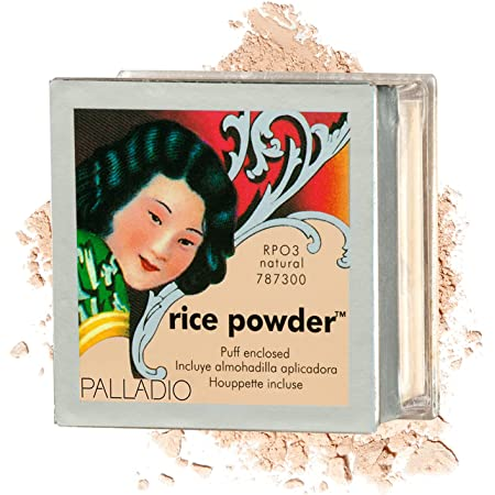 Palladio Rice Powder, Natural, Loose Setting Powder, Absorbs Oil, Leaves Face Looking and Feeling Smooth, Helps Makeup Last Longer For a Flawless, Fresh Look