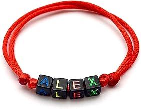 Bracciale ALEX con nome, messaggio, iniziale, logo (reversibile, personalizzabile) uomo, donna, bambino, neonato