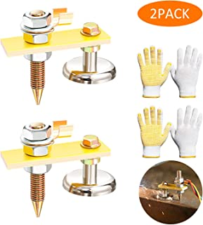 New Welding Magnet Head, Magnetic Welding Support Clamps, Copper Tail Welding Stability, Strong Magnetism Large Suction, Absorbable Weight 3KG (2Pack Single Head)