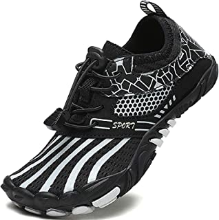 MARITONY Kids Athletic Water Shoes Boys Girls Quick Drying Aquatic Non Slip Lightweight Summer Outdoor Water Shoes for Kids