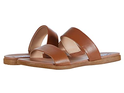 Steve Madden Dual Flat Sandal (Tan Leather) Women