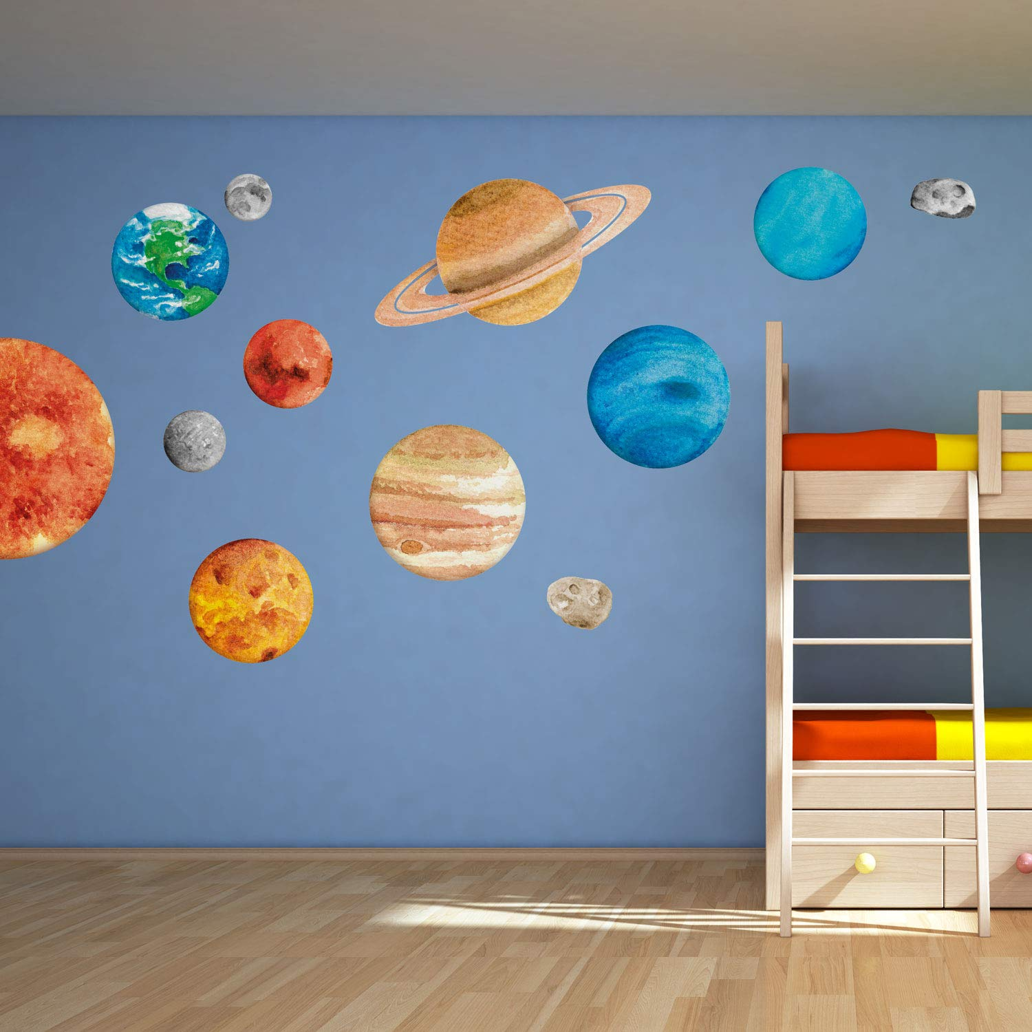 Solar System Wall Decal  Space Wall Decals  Perfect for a Creating a  Space Themed Room