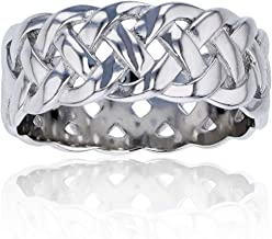 Sterling Silver Celtic Eternity Knot Ring For Women and Girls | Eternity Knot Rings | Hypoallergenic Rings | 925 Sterling Silver Rings, Size 6, 7, 8, 9