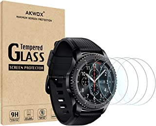 (4-Pack) Gear S3 Tempered Glass Screen Protector, Akwox [0.3mm 2.5D High Definition 9H] Premium Clear Screen Protective Fi...