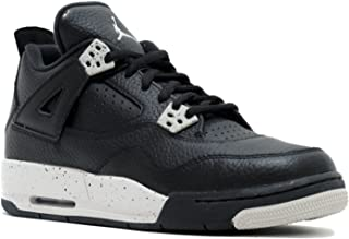 Jordan Air 4 Retro Oreo BG Big Kids Shoes Black/Tech Grey-Black 408452-003