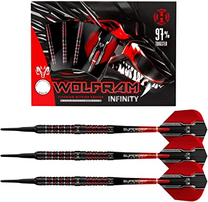 30 Red Lippoint Premium L-Style Dart Standard Soft Tips w// FREE Shipping