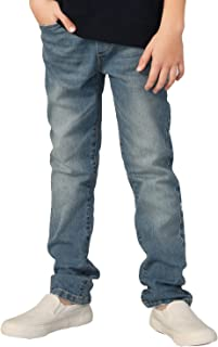 LEO&LILY Boys' Kids' Elastic Waist Husky Stretch Denim Jean LLB6A01