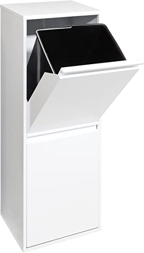 ARREGUI Basic Recycling Abfalleimer/Mülleimer aus Stahl, Mülltrennsystem mit 2 entnehmbaren Inneneimern aus Kunststoff mit Griff 2x17L (34 L),...