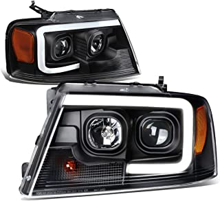 DNA Motoring Black Housing Amber Corner HL-3D-G2-F1504-BK-AM 3D LED DRL Projector Headlight[04-08 Ford F150]