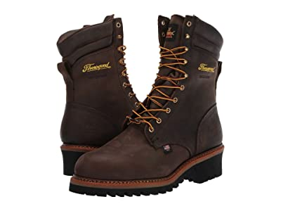 Thorogood Logger Series Waterproof Steel Toe 9 (Brown) Men