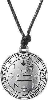 Dawapara Gothic Sigil of Archangel Thavael Enochian Pendant Necklaces Talisman Angel Jewelry for Men