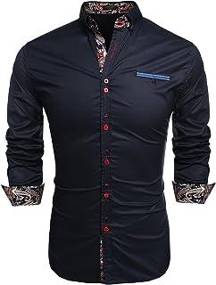 COOFANDY Men's Fashion Slim Fit Dress Shirt Casual Shirt