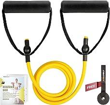 باند ورزش تک مقاومت RitFit با دسته راحت - ایده آل برای فیزیوتراپی ، تمرینات قدرتی ، تقویت عضلات - لنگر درب و راهنمای شروع.