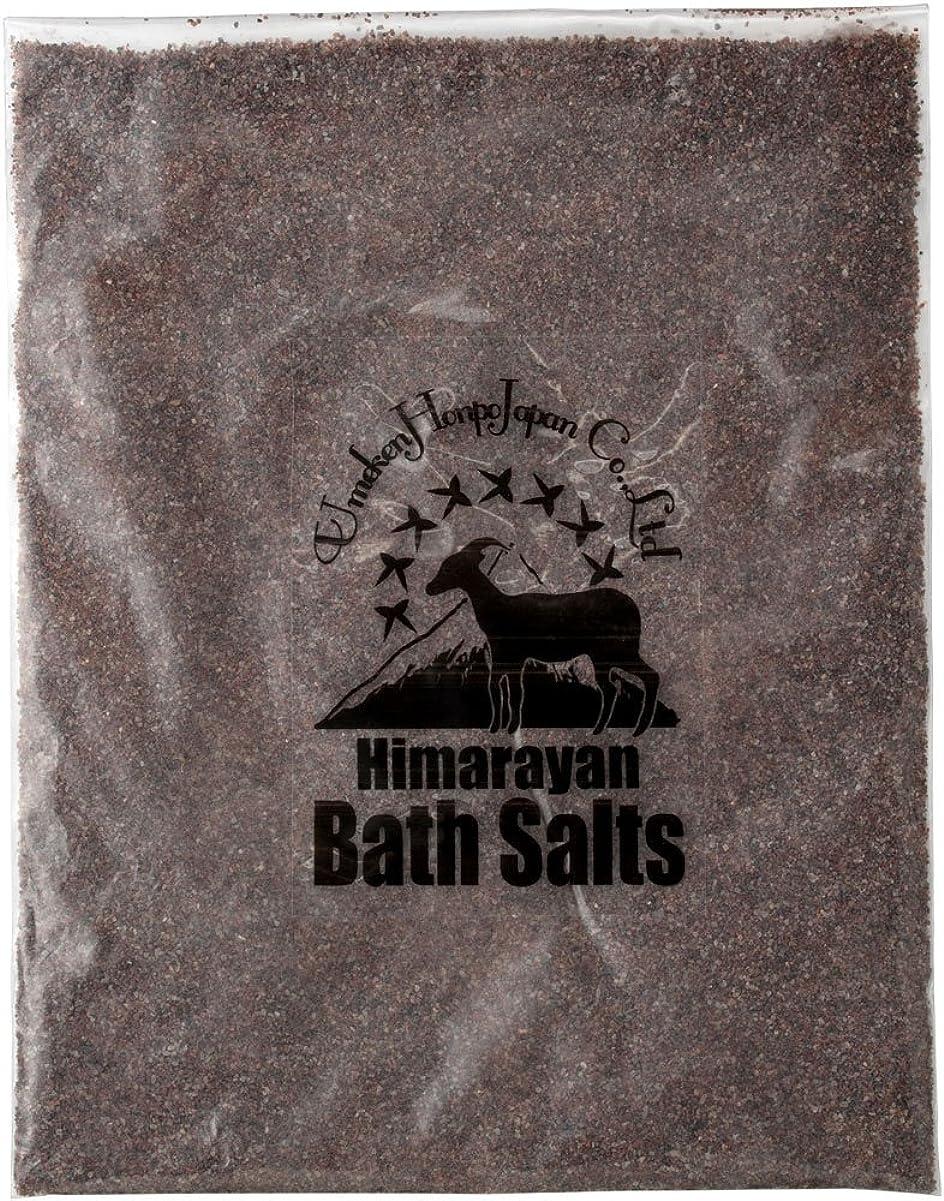 マイナー協力からかうヒマラヤ岩塩 バスソルト ブラック あら塩 1kg