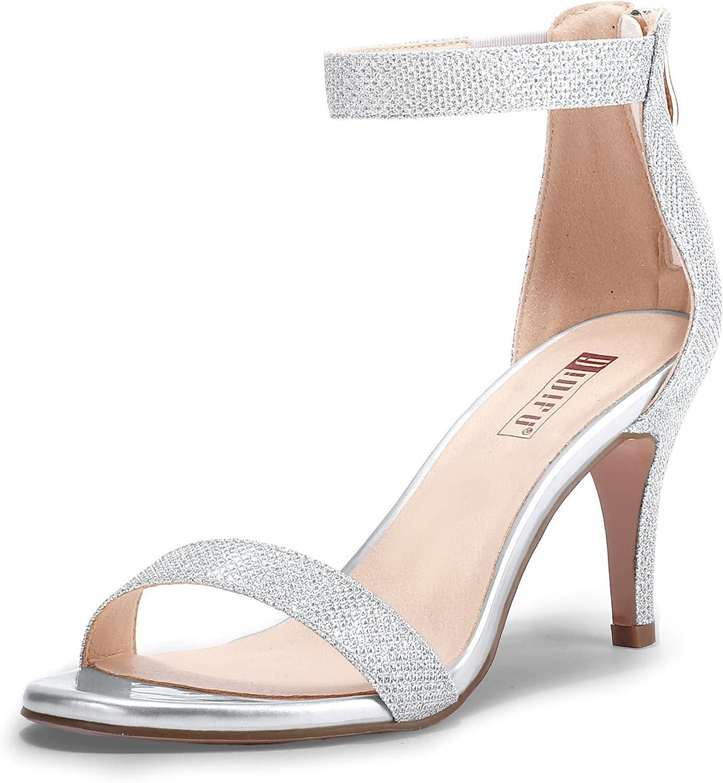 IDIFU Women's IN3 Slim Fashion Ankle Strap Ranking TOP1 Toe Heel Open Limited Special Price Kitten