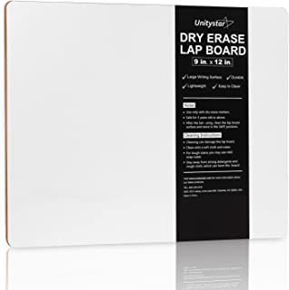UnityStar White Board, 9 x 12 inches Dry Erase Board Portable Small Whiteboard for Classroom Students Kids Teachers Writin...