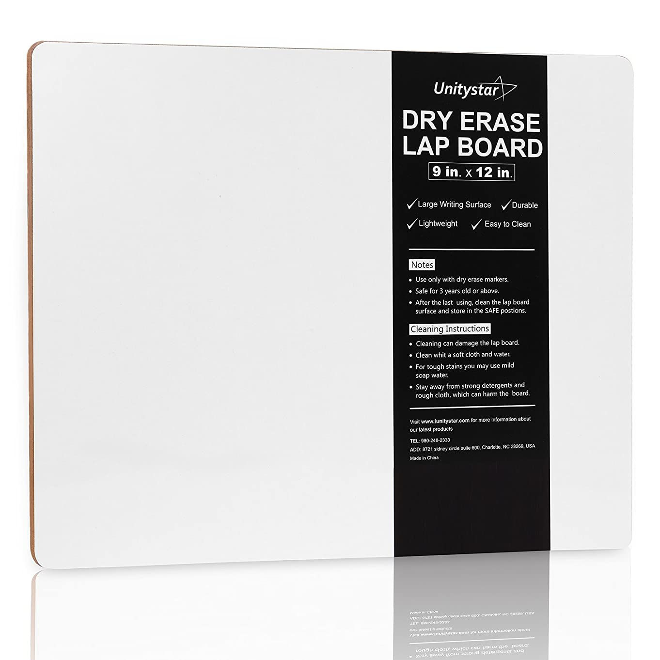 Dry Erase Board, UnityStar 9 x 12 inches Small Dry Erase Lap Boards Portable Classroom Whiteboard for Students Teachers Kids Writing Drawing, Single-Sided,0.4LBS
