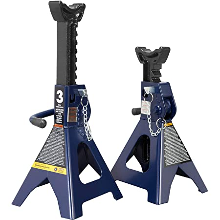 CARTMAN 3 Ton Double Locking Jack Stands with Safety Pin Sold in Pairs