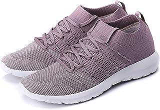 Women's Walking Shoes Slip On Athletic Running Sneakers Knit Mesh Comfortable Work Shoe