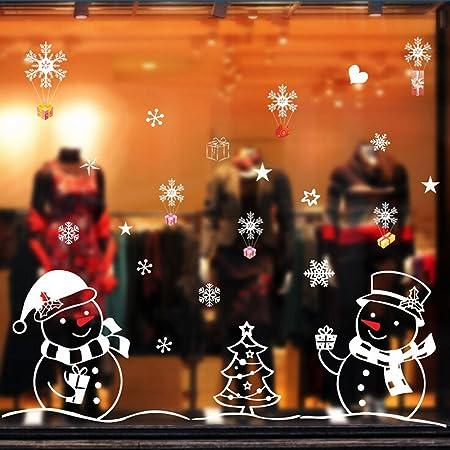 Christmas Snowman Removable Home Vinyl Window Wall Stickers Decal Decor Home /& Garden Home Decor