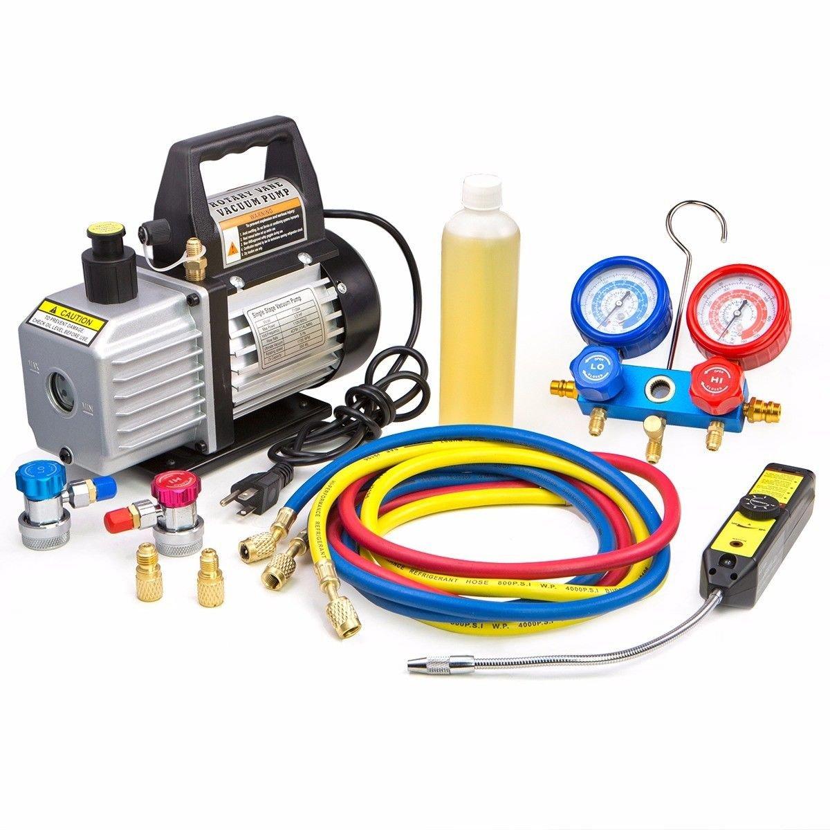 Lotus Analin 4CFM Vacuum Pump Manifold AC Sale Special Price HVAC Our shop OFFers the best service Gau Refrigeration