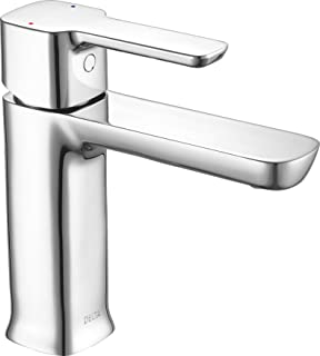 Delta Faucet Modern Single-Handle Bathroom Faucet with Drain Assembly, Chrome 581LF-PP