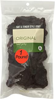 Original Soft and Tender Style Bulk Beef Jerky - 1 POUND BEEF JERKY BAG - High Protein Jerky - Healthy Lean Meat Snack - Try Our Best Tasting Soft Beef Jerky - 16 oz.