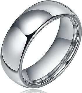 Yadoca 8MM Classique Carbure de Tungst/ène Anneau Mariage Engagement Bague Finition Mate Bord Poli Biseaut/é Coupe Confort