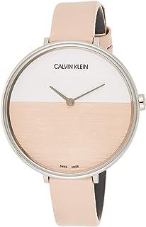 Calvin Klein Women's Analogue Quartz Watch with Leather Bracelet – K7A231XH