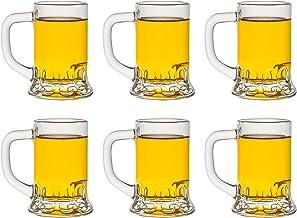 Libbey Shotglas Mini Mug – 40 ml/4 cl – 6 stycken – hotglas – perfekt för vattenspel – Oktoberfest – diskmaskinssäker