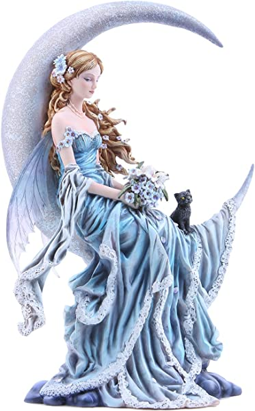 Pacific Giftware Four Elements Celestial Moon Fairy Figurine Earth Wind Frost Fire Collectible Figurine Nene Thomas Art Inspiration Official Licensed Collectible 12 Inch Tall Wind