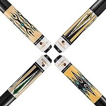 FADAZAI Set of 4 Pool Cues Stick 19.5 oz 58 inch Billiard House Bar Pool Sticks