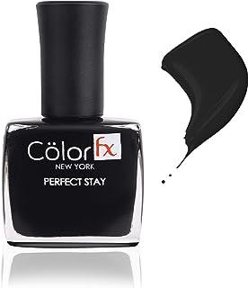 Color Fx Premium Non-Toxic Nail Polish with Glossy Finish in Jet Black