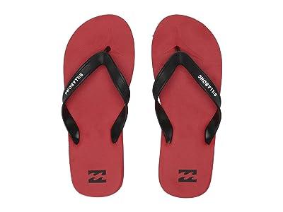 Billabong All Day Solid Sandal (Red 2) Men