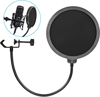 2019 Upgrade Microphone POP Filter, Bee-life 6 inch Dual...