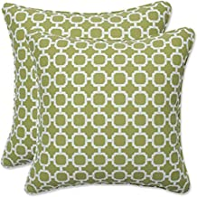 "Pillow Perfect Outdoor/Indoor Hockley Pear Throw Pillows, 16.5"" x 16.5"", Green"