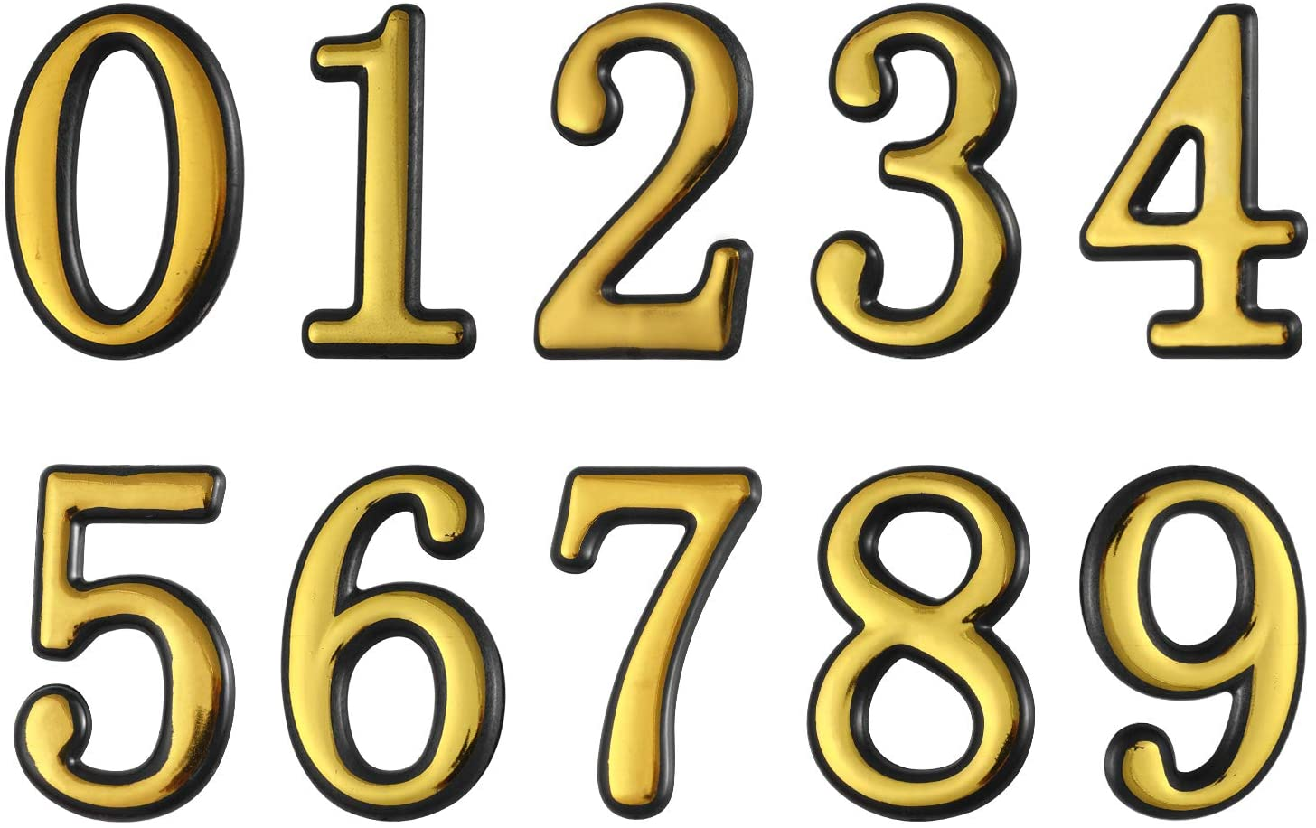 gift Golden Self-adhesive Cheap sale Mailbox Number House 4 Logo In