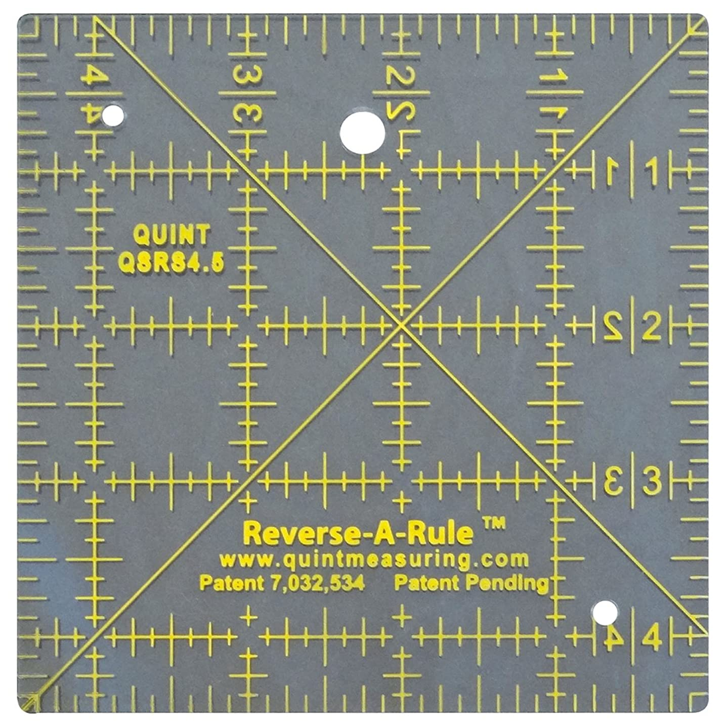 Quint Measuring Systems QSTD45 Reverse a Rule Standard Series Ruler, 4.5-Inch x 4.5-Inch
