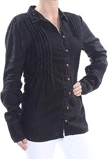 Womens Breezy Mornings Linen Button-Down Blouse
