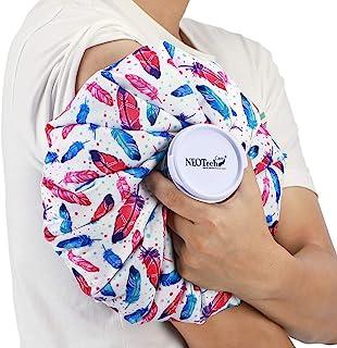 Bolsa de hielo para lesiones e inflamaciones - Tapón de rosca - Marca Neotech Care - Diseño : Plumas - 12cm