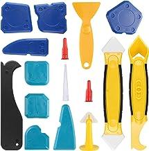HALOVIE 16 stuks gereedschap voor het verwijderen van siliconen afdichtmiddelen, 3-in-1, gereedschap voor het repareren va...