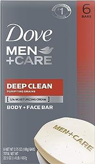 صابون الجسم والوجه من دوف للرجال + صابون للعناية بالبشرة أكثر رطوبة من لوح الصابون للتنظيف العميق حيث يغسل البكتيريا بشكل ...