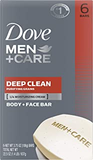 Dove Deep Clean Body and Face Bar, 453.592 Grams