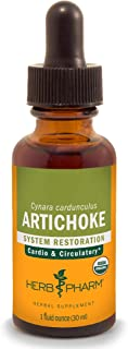Herb Pharm Certified Organic Artichoke Liquid Extract for Cardiovascular and Circulatory Support - 1 Ounce