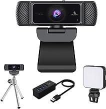 60FPS 1080P Webcam Kits, NexiGo FHD USB Web Camera with Tripod Stand & Privacy Cover, Video Conference Lighting, USB 3.0 H...