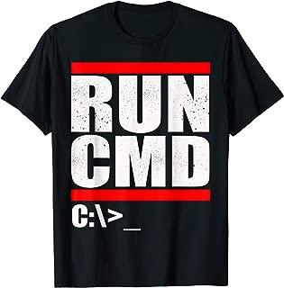 Run CMD T Shirt   Computer Nerd T Shirt