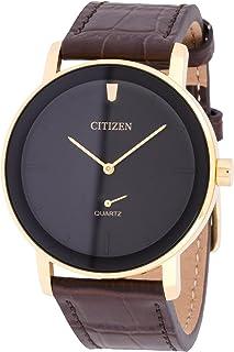 ساعة كواترز انالوج بسوار جلدي للرجال من سيتيزن - طراز BE9182-06E