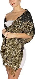 Pashmina Scarf for Women Large Cashmerefeel Reversible Shawl Wraps - Big Paisley Scarves