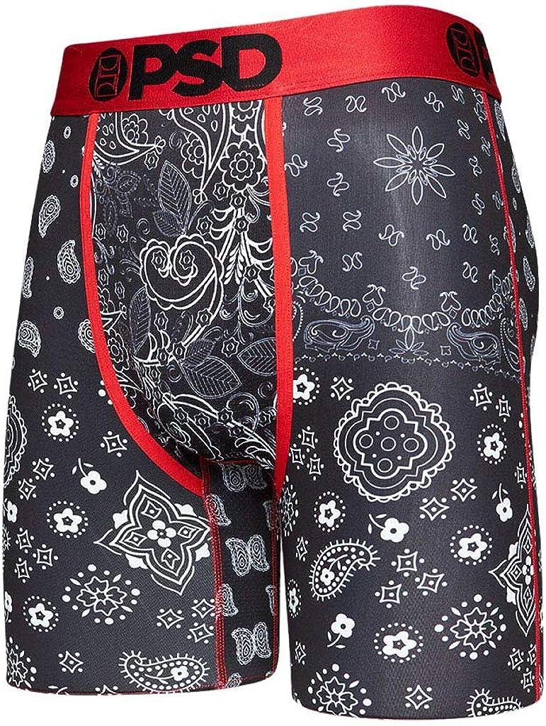 PSD Underwear Men's Black Hype Bandana Printed Boxer Brief