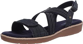 حذاء رياضي نسائي من Grasshoppers من Leah ذو حزامين متقاطعتين، أزرق داكن، 7 M US